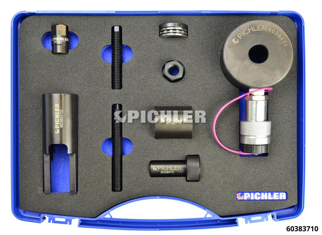 60383710: Mercedes Injector Remover Kit OM642 with 12t hydraulic cylinder