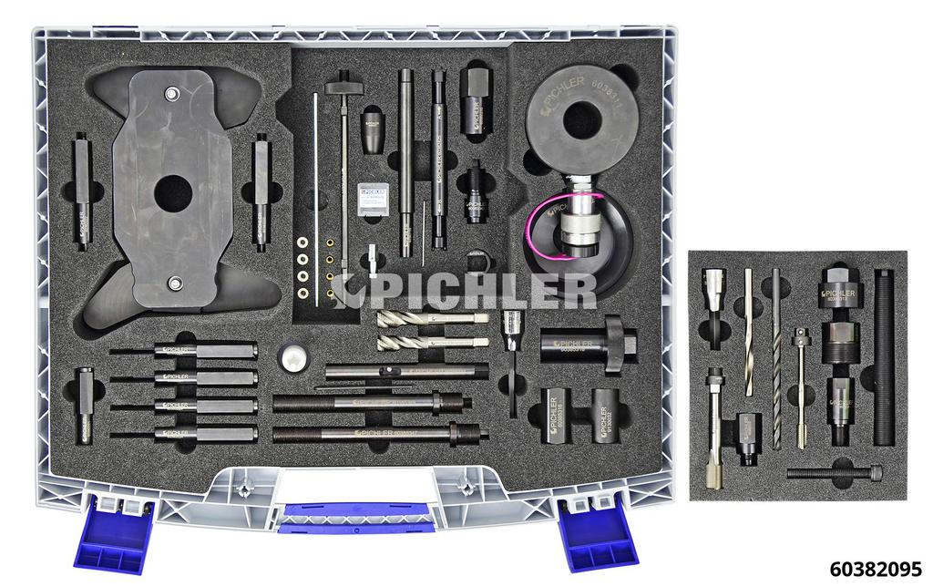 60382095: Injector Removal Set M9R / M9T / R9M with 20t hydraulic cylinder