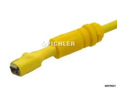 Connecteur de cosse de câble M plat 5,0 mm jaune