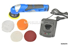 Cordless Polisher 12V 1300 mAh Li-ion in a Case with Fast Charger