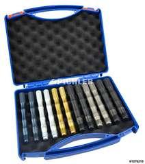 Wheel Stud Alignment Guide Tool Set 12 pc., 2 of each for M12x1,5 / M12x1,25 / M12x1,75 / M14x1,5 / M14x1,25 / M16x1,5