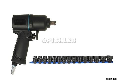 Schlagschrauber Set 1/2 MINI max. Drehmoment 500/680 NM mit XS-Impact Stecknuß Satz extra kurz
