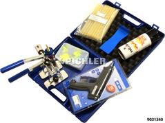 Zugösen Multipads FLEX Sortiment m. Heißklebepistole, Klebesticks,Zugvorr., Lösespray, Löseschaber im Koffer
