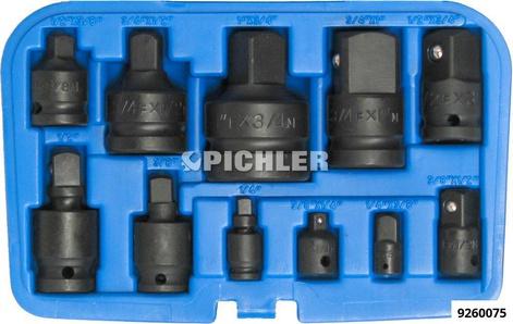 Adaptersatz 11-tlg. IMPACT Reduzierungen und Kraft- Kugelgelenke 1/4,3/8,1/2,3/4,1