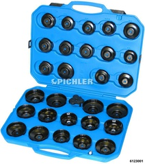 Filter wrench set 30 pcs. universal in a plastic case