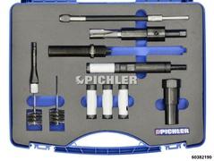 Ergänzung zu Injektor Demontagesatz Mod. M9R / M9T, mit Lochsägen und mit Reinigungsbürsten