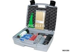 Zugösen Multipads Sortiment m. Heißklebepistole, Klebesticks, Lösespray, Löseschaber im Koffer