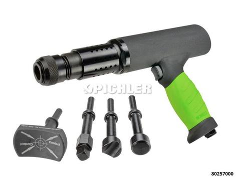 Kit VIBRO IMPACT, marteau percuteur pneumatique avec 4 embouts