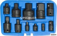 """Adaptersatz 11-tlg. IMPACT Reduzierungen und Kraft- Kugelgelenke 1/4"""",3/8"""",1/2"""",3/4"""",1"""""""