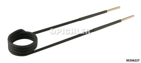 Spule 90° abgewinkelt Ø38mm, L220mm, M20 Ausführung in schwarz