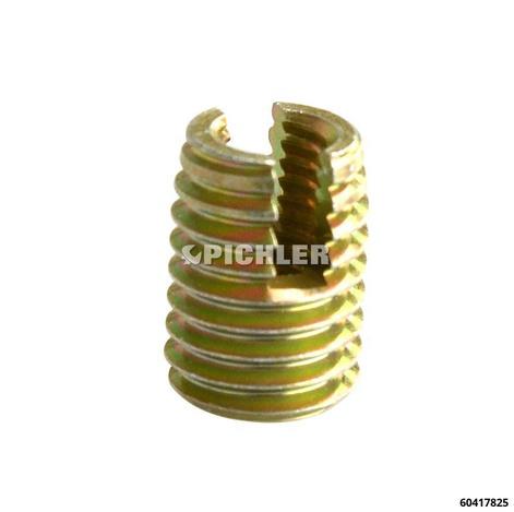 Gewindebuchsensatz M 6 zur Reparatur tiefliegender Gewinde mit Eindreher dünn Aufbohrer, 10 Stk. Gewindebuchsen