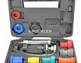Kühlsystemprüfkoffer mit aufblasbarem Universaladapter und Aufsätzen zur Deckelprüfung