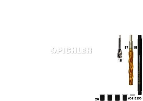 Gewindereparaturset für Glühkerzen, Quickset Mod.SSY, M10 x 1, 10mm