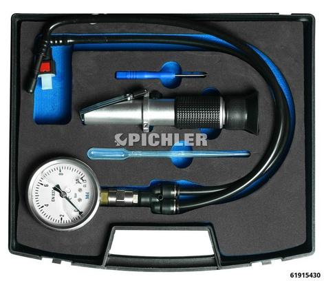 AdBlue-Druckmessgerät Set 2-tlg. Manometer 0 bis 10 bar + Refraktometer