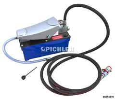 Air Hydraulic Pump 700 bar with Hydraulic Pressure Gauge and with 3 m Hose, CEJN Connector