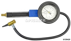 Hand tire filler with lever connector Manometer Ø 80 mm, calibrated