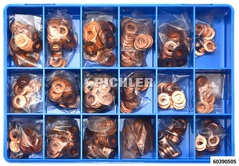 Universal Injector Copper Washer Assortment 450 pcs