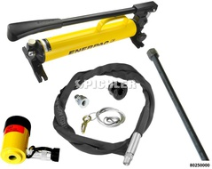 Hydraulik Set 5-tlg. inklusive 12t Hydraulikzylinder und Radlagerspindel