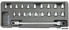 Socket Set with Through-Hole for e.g. V-belts and timing belts 23 pcs e-Torx and 12-point