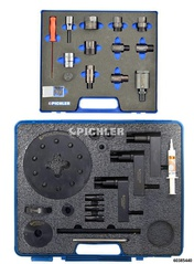 Universal Injector Removal Kit without Hydraulic Hollow Piston Cylinder with Adapter Set (Bosch, Denso, Siemens, Delphi)