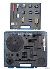 Injektor Demontagesatz Mod.UNI ohne Hydr. Hohlkolbenzylinder 12t mit Adapterset (Bosch, Denso, Siemens, Delphi)