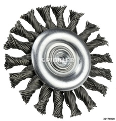 Mounted Wheel Brush, Knotted 76x6mm