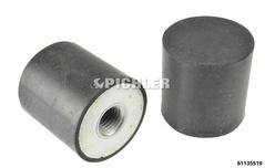 Gummi-Auflagepuffer 50x35 M16x16 für z.B. 61135510
