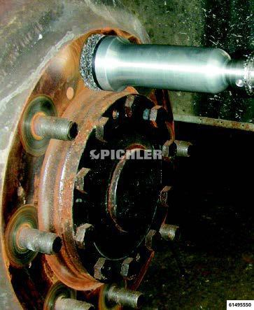 Reinigungsscheibenset Gr.4 entrosten der NFZ-Felgen hinter den Stehbolzen Set Grundgerät+Scheiben