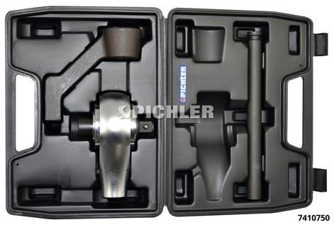 Kraftvervielfältiger Mod.M Antrieb 1/2 Abtrieb 3/4 1:4 (2000Nm) 4-tlg.i.Koffer