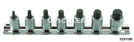 Innensechskanteinsätze Antrieb 1/4 Länge 25 mm Satz 7-teilig RS2010M/7
