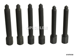 Spezial-Schrauben 3 Paar M12x1,25 + M12x1,5 + M14x1,5 für Radnaben
