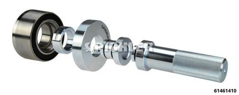 Jeu de pièces de pression universel 45pc Ø50 - 135mm av.embouts guide Ø34mm-Ø55mm