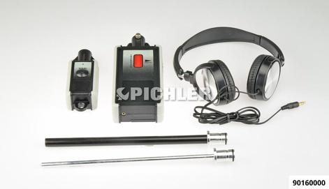 """Ultrasonic-Stethoskope Mod.""""U"""" elektron. verstärkt mit Kopfhörer und 2 Sonden"""
