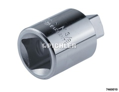 "Reduction adapter drive: 1/2"", output: 3/8"", length: 58 mm"