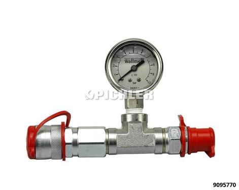 Manometer 0-1000 Bar -  Ø 40mm für Hydraulikpumpen m. CEJN-Wallmekanschluss