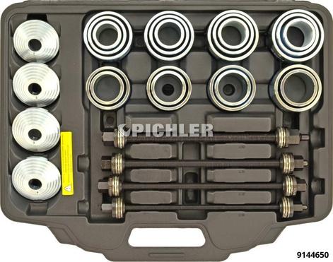 Druck- und Zughülsensatz, Spindeln Qualität 12.9, 36-tlg. PKW+LKW Hydro-,Kugellager,Simmering