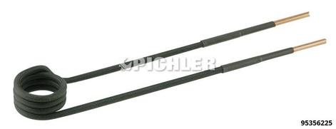 Spule 90° abgewinkelt Ø26mm, L220mm, M12 Ausführung in schwarz