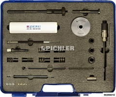 Injector shaft cleaning set with depth gauge
