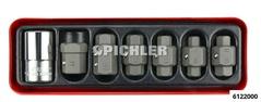Oil service key set set 7 pieces in a metal box
