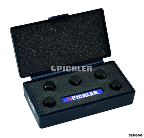 Gewindebohrer-Halteadapter Antr. SW13 6-kant+Haltkugel Aufnahme m.Magnet Set 5-tlg ohne Koffer
