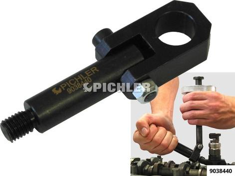 Zwischengelenk-Adapter zur Injektordemontage mit einem Löseknebel und Schlaghammer