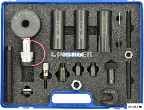 Injektor Demontagesatz Mod.CDI mit 12t Hydraulikzylinder, 19-tlg.