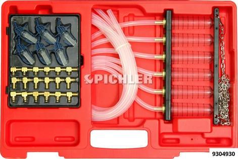 Rücklaufmengenmessung Set zur Prüfung der Rücklaufmenge Coomon Rail 6 Einzelröhrchen+24 Adapter