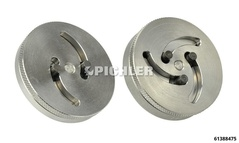 Universal Caliper Piston Wind Back Adapter with 2 and 3 pins - adjustable from Ø 11,3 to 29,6 mm