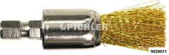 Injektorsitz-Spezialbürste 17,0 mm Messingbürste, stirnseitige Bitaufnahme
