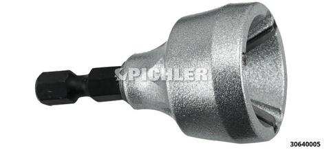 """Außenentgrater für Bolzen von 3,0-19,0mm mit 1/4"""" Antrieb für z.B. Bohrmaschine"""