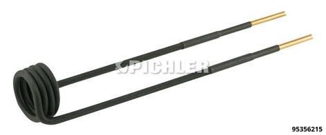 Spule gerade, Ø26mm, Länge 220mm, M12 Ausführung in schwarz