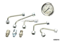 Common-Rail testing device CRP01.2 pressure gauge 0-1000bar + 2 lines + 1 adapter ET446 M12x1.5 AG
