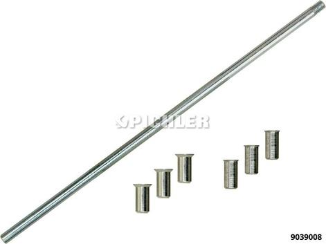 Eindrehwerkzeugsatz 8+10mm Messing / 1x Eindreher 3x Bund 8mm, 3x Bund 10mm