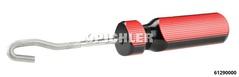 Outil de nettoyage circuit de freinage avec 3 méplats pou grater les impuretées